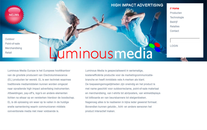 Luminous media